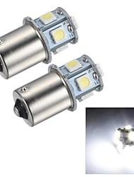 merdia 1.5W 45lm 1156 8x5050smd привело белый свет стоп-сигнал / фонарь заднего хода / поворота свет (2 шт / 24v)