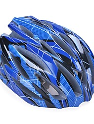moda cómoda seguridad + y casco de alta transpirabilidad bicicleta (31 tiros) - azul oscuro + negro