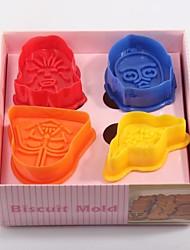 4PC Color Stereoscopic  Cookies Mould(Colors Random)