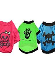 un paquete de 3 perros camisetas ventas del grupo patrón diferentes (diferentes tamaños)