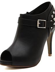 Chaussures femmes peep toe talon aiguille bottines