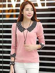 kvinnors korean prickar kavajslag t-shirt (fler färger)