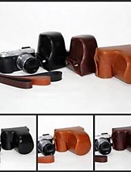 pajiatu pu lederen camera beschermende draagtas tas hoes met schouderband voor Panasonic Lumix DMC-GX7 GX7