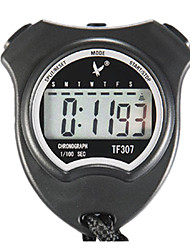 2 Memories 1/100s Single Line 6 Digit 24h Digital Stopwatch for Sports LEAP TF307