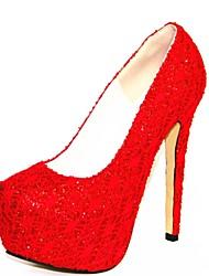Damenschuhe Plattform Pfennigabsatz Pumpen Schuhe