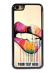 caso de telefone personalizado - lábios caso design de metal para iphone 5c