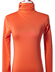 Stehkragen Langarm Winter t-shirts Orange