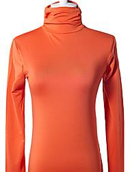High Collar Long Sleeve Winter T-shirts Orange