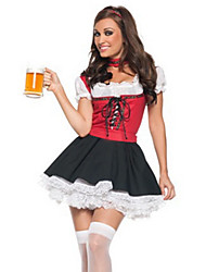 Cosplay Costumes / Party Costume Sweet Beer Girl Red and Black Women's Costume(free size)for Carnival