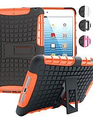 deux-en-un grain de pneus pc de conception et étui en silicone avec support pour iPad mini-1/2/3 (couleurs assorties)
