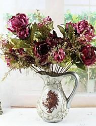 13 tête haute qualité simulation imaginaire de fleur de pivoine
