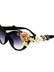 100% UV400 Women's Cat-Eye Plastic Retro Sunglasses