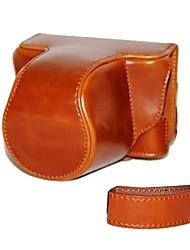 dengpin® câmera caso couro pele da tampa do saco retro pu com alça de ombro para PENTAX q-S1 qs1