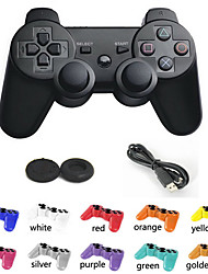 Dual Shock New Wireless Bluetooth Game Controller + Analog Joystick Button Protector for PS3