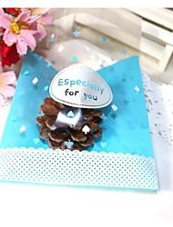 50pcs bleu spécialement pour vous OPP auto boulangerie biscuit bonbons bijoux cadeau de sac d'emballage en plastique adhésif cookie