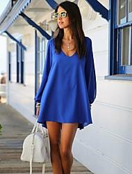 stijlvolle vrouwen kleding, v-hals lange mouw loszittende
