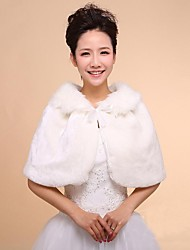 Wedding Wraps Faux Fur Warm Bridal Wedding Shawls With Ribbon