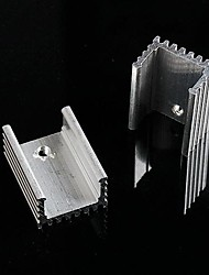 Aluminum Heat Sink / Electronic Radiator / Cooling Aluminum Block - Silver (20 x 15 x 10mm)  (10Pcs)