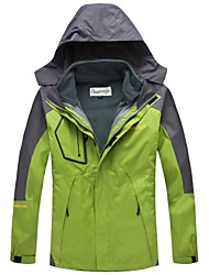 ChuanTongJie Men's Outdoor and 2-in-1 Windproof Windbreak Hiking&Camping&Skiing 2 Sets 3 Wears Mauntaineering Jackets