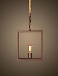 retro uma lâmpada de corda de cânhamo lustre estilo country retro