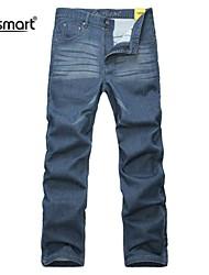 Herren Jeans-Einfarbig Freizeit / Büro Baumwolle / Polyester Blau