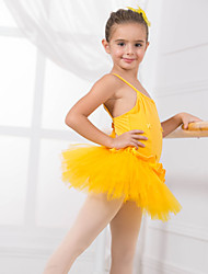 Kids' Dancewear Leotards Children's Training Cotton Appliques / Bow(s) Sleeveless CM:110:50,120:53,130:56,140:59,150:61