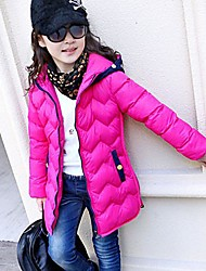 Girl's Cotton/Cotton Blend Down & Cotton Padded , Winter Long Sleeve