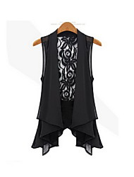 Clement Women's Chiffon Lace Large Yard Vest Vest Coat
