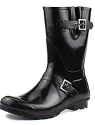 Men's Shoes Outdoor Rubber Boots Black