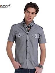 Lesmart Men's Fashion Casual Short-sleeved Plaid Shirt
