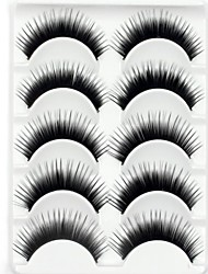 New 5 Pairs European Black Long Thick False Eyelashes Soft Eyelash Eye Lashes for Eye Extensions