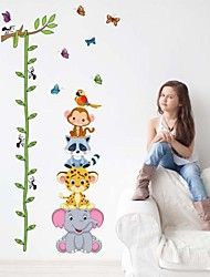 Wall Stickers Wall Decals, Cartoon Animals PVC Height Wall Stickers