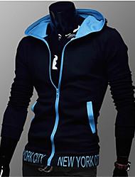 bordado de la manera de Corea del abrigo con capucha fina de Manba hombres