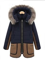 Women's Fashion Winter Fur Hoodies Thicken Down Coat