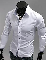 cor blcoking slim-encaixe camisa lazer