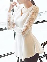 camicia di chiffon con scollo a V coco zhang donne