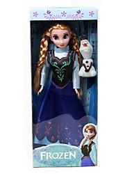 princesa anna e olaf 29 centímetros boneca barbie brilho