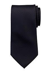 Black Striped Silk Tie