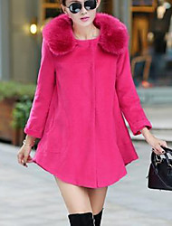 Dovis Women's Woolen Long Loose Coat_658361