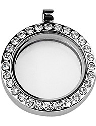 DIY Round Magnetic Glass Gloating Charm Locket Pendant