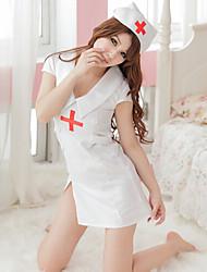 súper traje de enfermera soga fascinado (3 piezas)