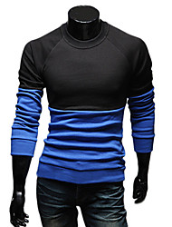 Tizeland Men's All-Match Long Sleeves Contrast Color T-Shirt
