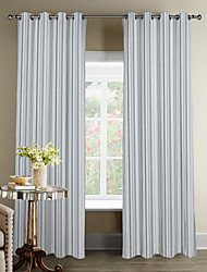 Modern Minimalist Striola Curtain (Two Panels)