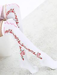 Women's Fashion Bow Flower Printing Stockings