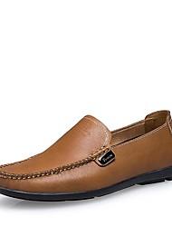 herenschoenen ronde neus platte hak leren loafers met slip-on schoenen meer kleuren beschikbaar