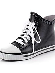 Men's Shoes Rubber Outdoor Boots Outdoor Flat Heel Black
