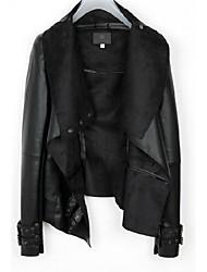 Emma Women's Lapel Neck Bodycon Occidental Style Coat