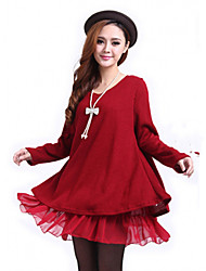 Women's Solid Color Chiffon Loose Fit Dress