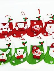 calze di Natale per natale decorazione partito 6pcs (colore casuale)
