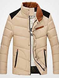 Dibai мужская мода досуга установлены пальто хлопка